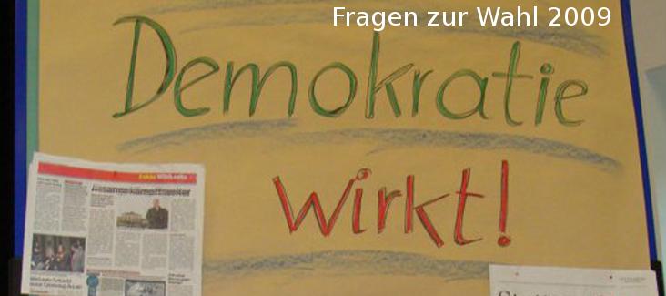 Demokratiefragen 2009