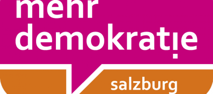 Logo mehr demokratie! salzburg