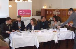 Pressekonferenz mit Democracy International zur Volksbefragung Wehrpflicht